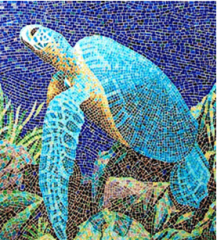 Facing of the pool mosaic tile.