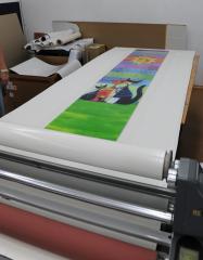 The press large-format on plastics