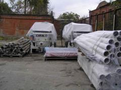Betonovod steel, Spare parts for the concrete pump