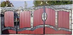 Construction of concrete fences, gate, gates,