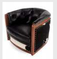 Banner of leather upholstered furniture,