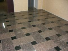 Laying of marble and granite floors