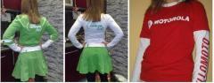Individual tailoring: t-shirts, raglans, promo