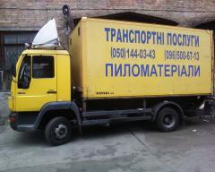 Доставка пиломатериалов по Киеву и Украине