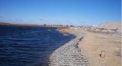 Укрепление берегов георешеткой