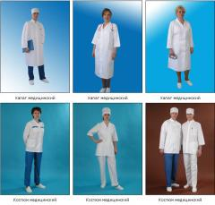 Tailoring of overalls under the order. Medical