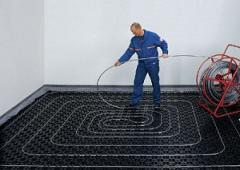 Laying of heat-insulated water floors of Valtec