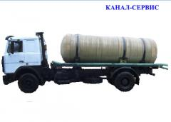 Services of sewage disposal of MAZ the capacity of