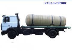 Услуги ассенизации  МАЗ вместимость цистерны 10
