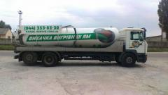 Service of sewage disposal of MAN the capacity of