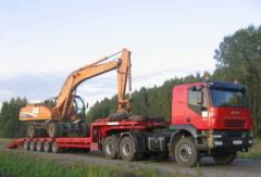 Перевозка спецтехники и не габаритных грузов тралом