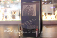 Laser engraving in glass, Kiev