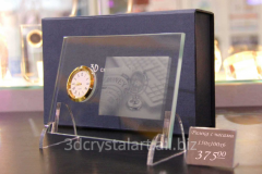Photo in glass, a laser engraving in glass