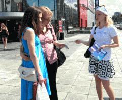 Distribution and distribution of leaflets