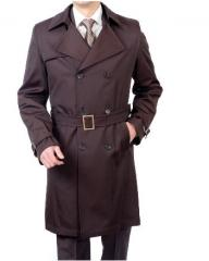 Production, tailoring of a trench man's with
