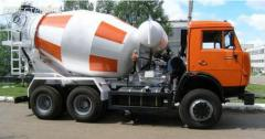 Delivery of concrete from Vasilkov
