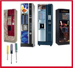 Service and replacement of details of vending