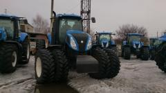 Rent of the tractor. Services in processing of the