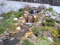 Изготовление и устройство водопадов, ручьев,...