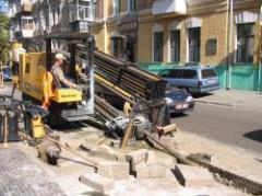 Устройство самотечной канализации. Метод ГНБ, строительство канализации, самотечная канализация,  строительство канализации