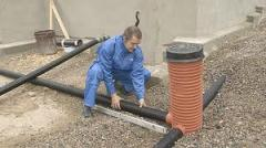 Services in installation of drainage systems,