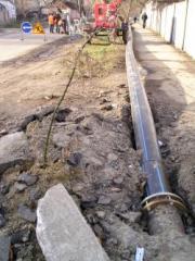 Строительство самотечного коллектора хозяйственно-бытовой канализации. Метод горизонтально направленного бурения, бурение канализации, строительство канализации, ремонт канализации, реконструкция канализации.