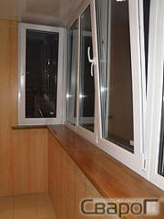 Обшивка балкона безшовной панелью (светлый...