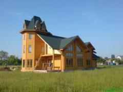 """Коттеджное строительство. Строительство деревянных домов """"под ключ"""". Украина. Проектирование и  строительство коттеджей из клееного профилированного бруса. Возможность просмотра построенных домов."""