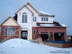 Услуги строительных бригад. Украина, Киев. Проектирование и cтроительство коттеджей по канадской деревянно-каркасной технологии «под ключ». Возможность просмотра построенных домов. Цены приемлемые.