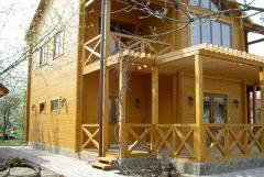 Installation of wooden houses