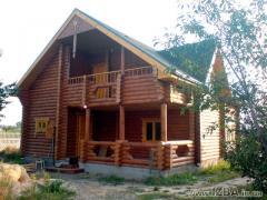 """Проектирование домов. Проектирование и строительство деревянных домов из оцилиндрованного бревна собственного производства разного диаметра """"под ключ"""". Возможность просмотра построенных коттеджей. Цены антикризисные."""