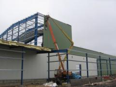 Installation sandwich of panels