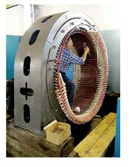 Repair of electric motors of alternating and