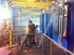 Repair of boiler rooms, water-heating solid