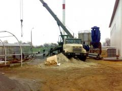 Construction of boiler rooms, water-heating solid