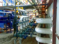 Repair and service of boiler rooms, installation