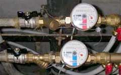 Installation and replacement of hydrometers, water