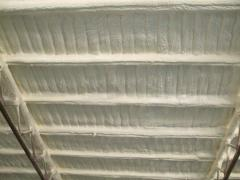 Polyurethane foam dusting