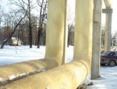 Waterproofing of metal tanks putting polyurethane