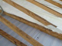 Warming of a roof polyurethane foam