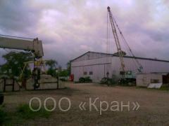 Repair and maintenance of load-lifting cranes of