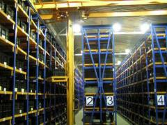 Warehouse services in storage of goods. Rent of