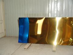 Vacuum sputtering under color of cobalt (titanium
