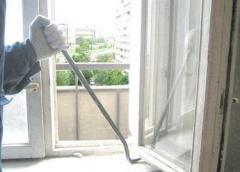 Dismantle of metalplastic designs, windows, doors