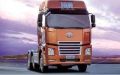 Road haulage. A cargo transportation across Kiev