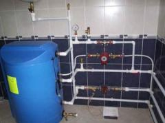 Installation of heating, water supply and sewerage