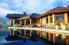 Construction of recreation areas, baths, saunas,