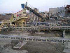 Installation of conveyors, crushers, grokh