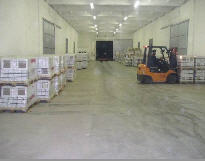 Warehouse services in storage of goods