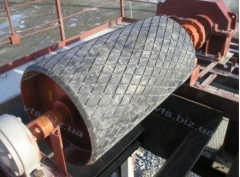 Repair of the rejecting drum f400 the conveyor